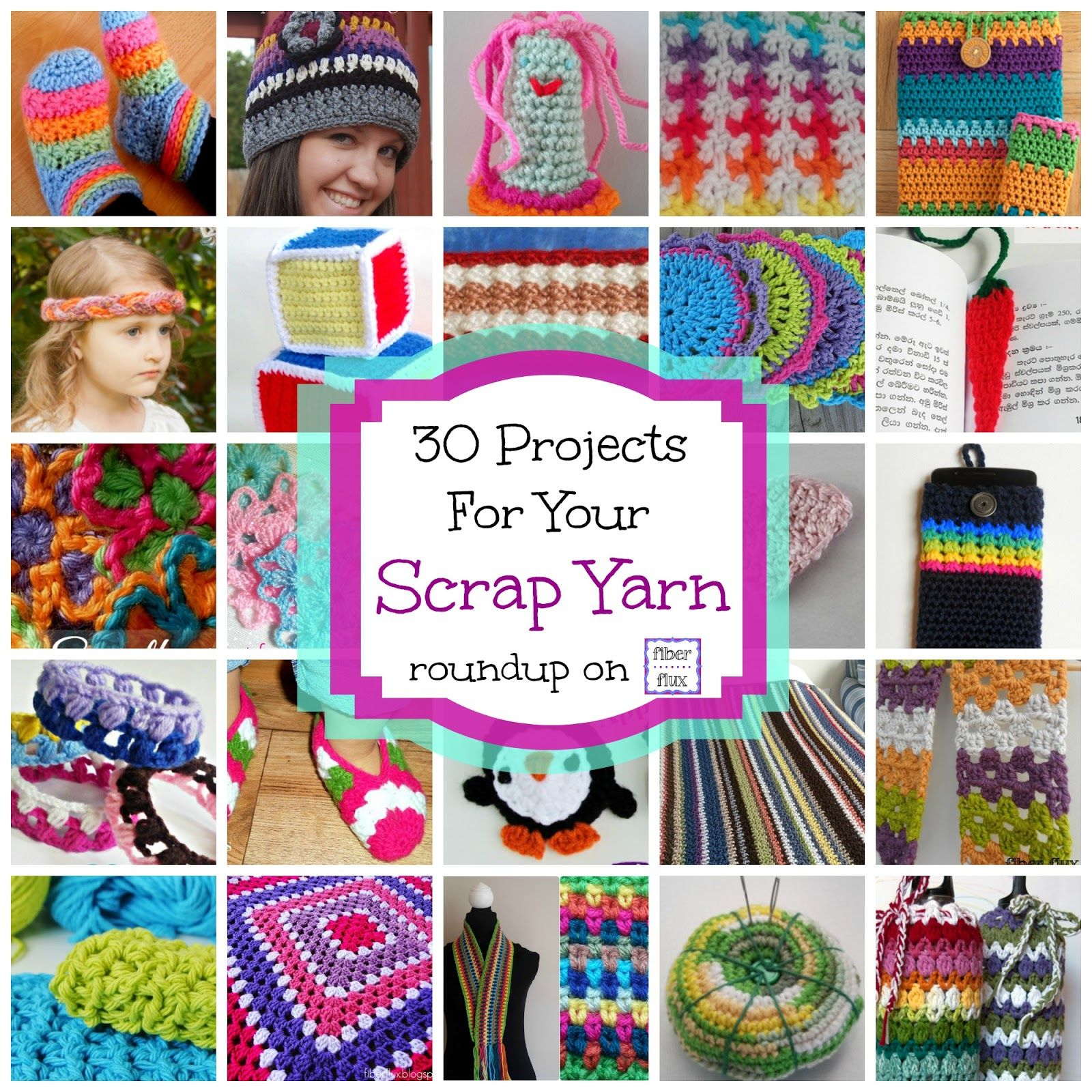 30 Free Crochet Projects for Your Scrap Yarn, roundup on Fiber Flux ...