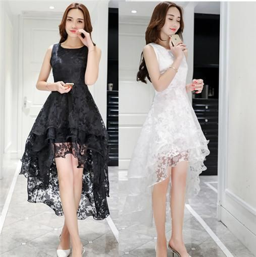 Womens Lace Midi Dress Ladies Prom Ball Gown Evening Party Cocktail Swing Dress