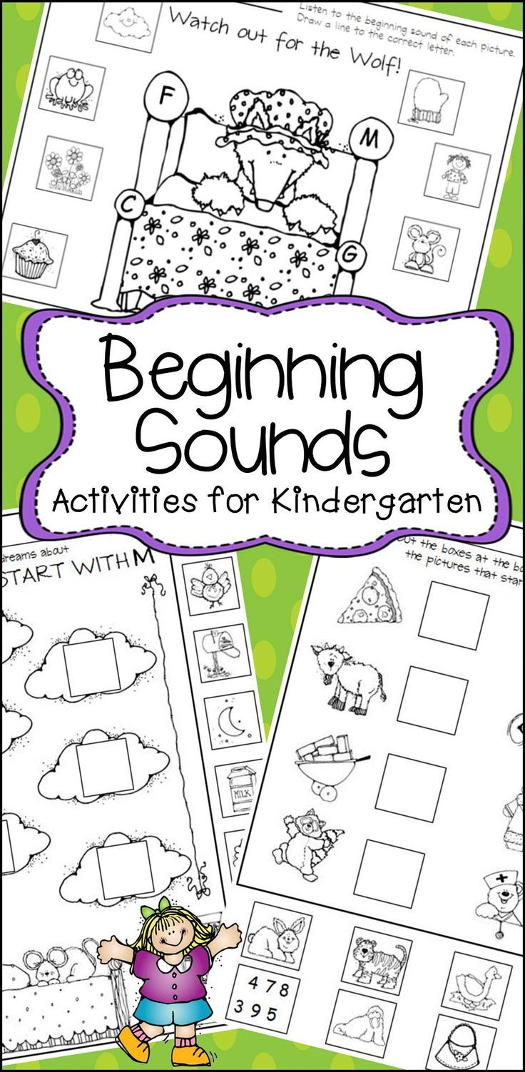 Beginning Sounds for Kindergarten Printables and Center Activities ...