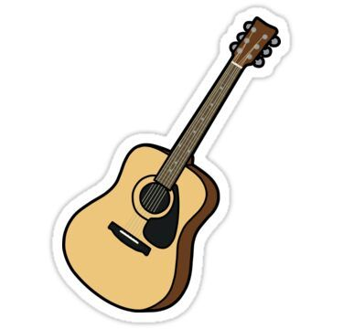 Acoustic Guitar Sticker By Dai Y S0ck In 2021 Guitar Stickers Homemade Stickers Cute Laptop Stickers