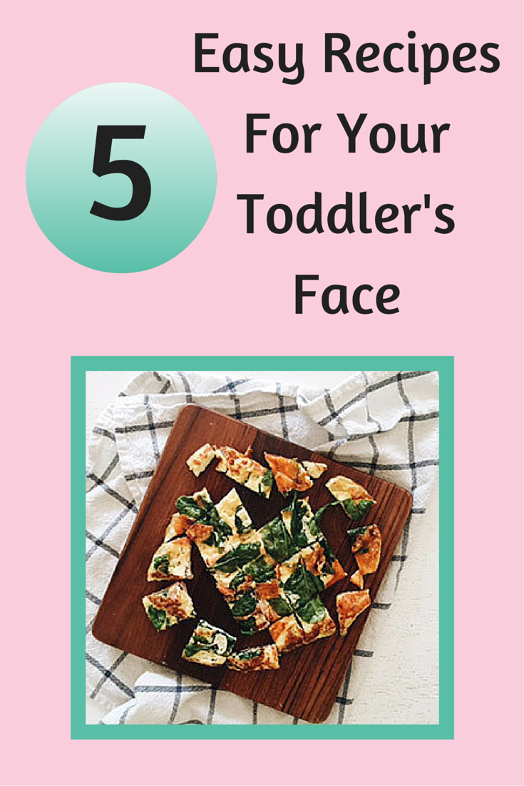 5 easy recipes for your toddler's face (like banana toast or a quesadilla). #healthymeals