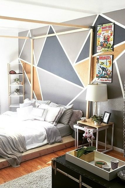 Wohnideen Schlafzimmer Studenten 87 graue jungen zimmer ideen wandgestaltung wandfarben muster und