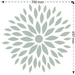 Stencil plantilla para paredes floral 003 medida elemento - Plantillas de letras para pintar paredes ...