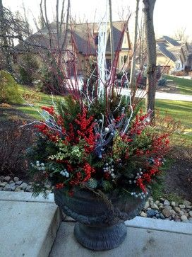 Front Porch Planters Ideas For The Winter Winter Urn Design Ideas