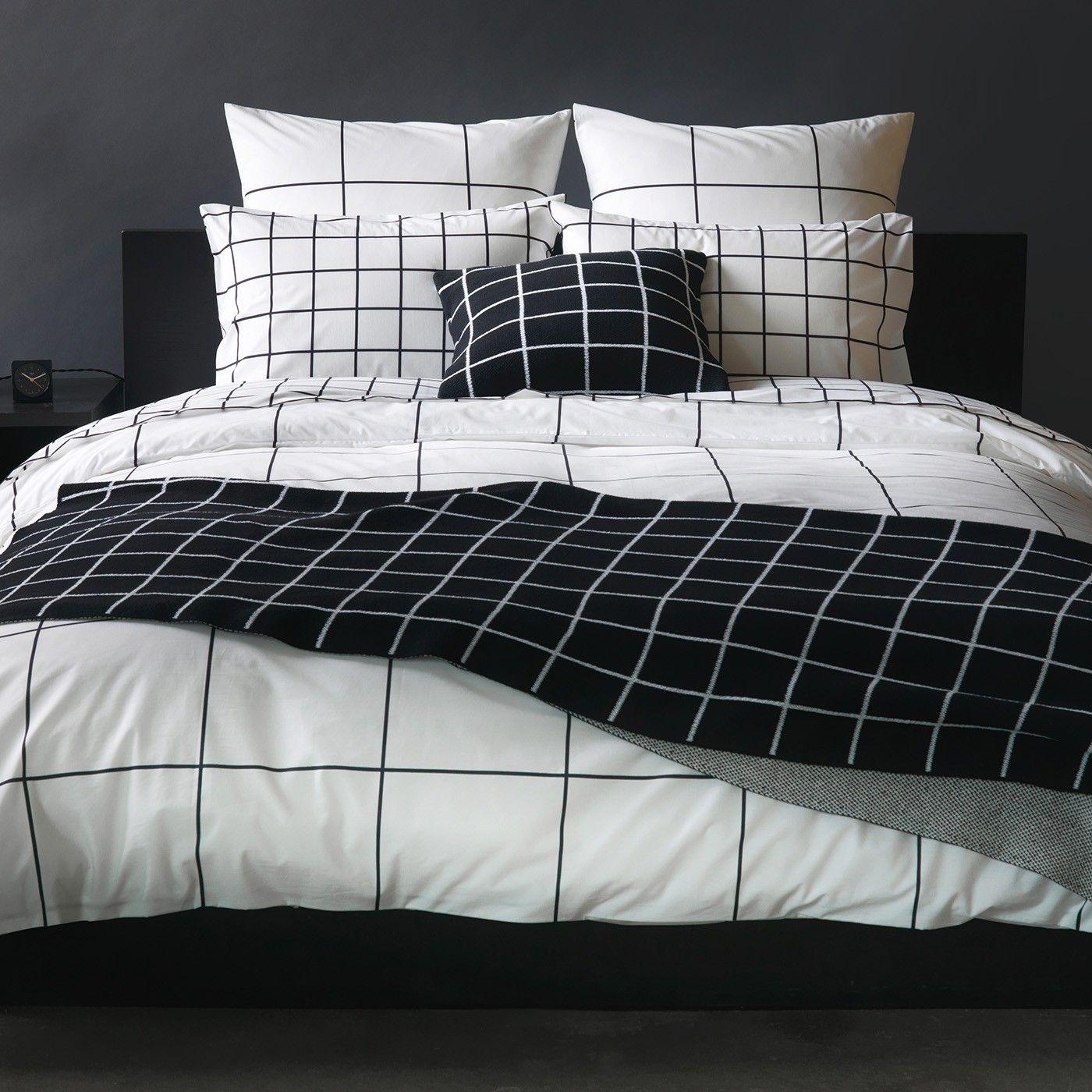 Grid Black Duvet Cover Full In 2020 Black Duvet Cover Bed Linens Luxury Duvet Cover Master Bedroom