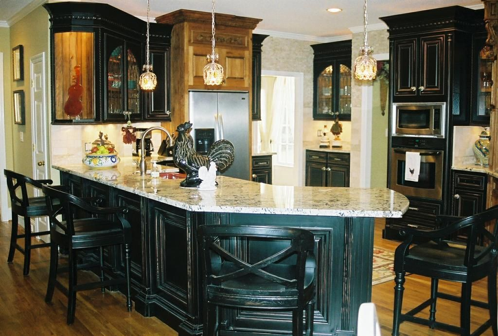 Distressed Black Kitchen Cabinets black distressed kitchen cabinets | view the entire photo gallery