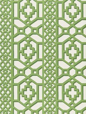 DecoratorsBest - Detail1 - Sch 5006941 - Zanzibar Trellis - Jade - Wallpaper - DecoratorsBest
