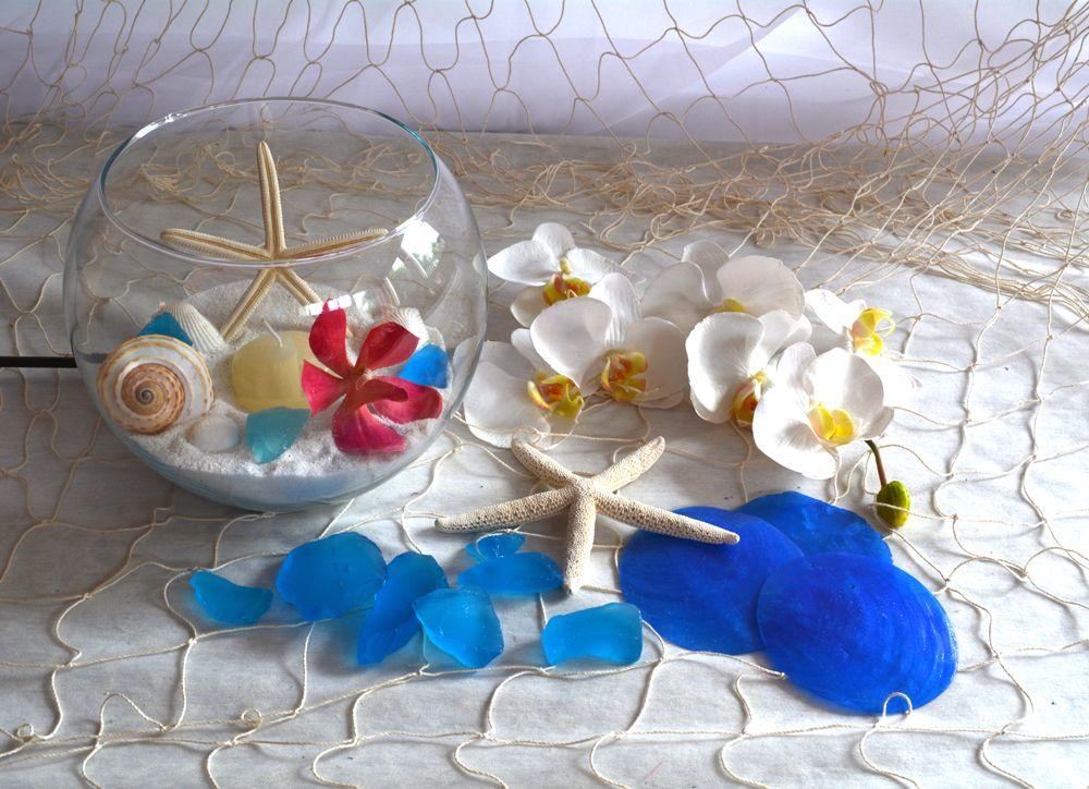 Beach Wedding Decorations On Sale At Afloral Com Blue Sea Shells