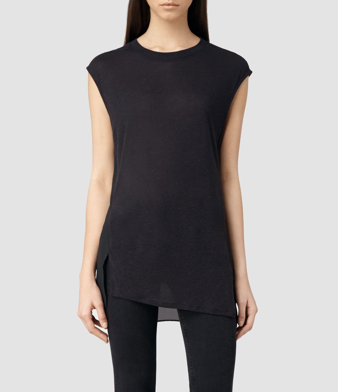 194204cbb9568 Womens Niki Tee (Cinder Marl) | ALLSAINTS.com Allsaints Style, T Shirt