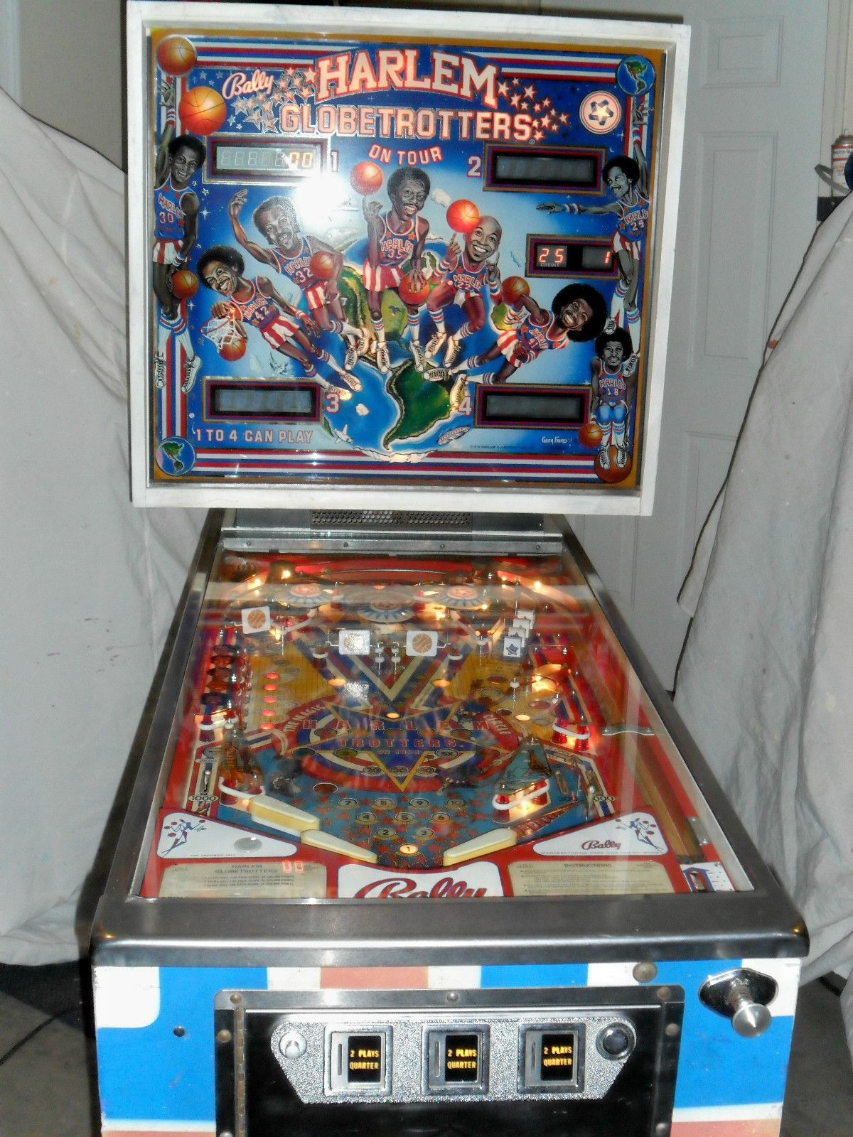 1979 Bally Harlem Globetrotters Pinball Machine, I have a friend that needs to get rid of this machine.