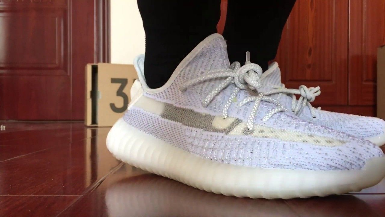 6750cb19748 BASF best version Yeezy 350 V2 Static 3m Reflective On Feet Review ...