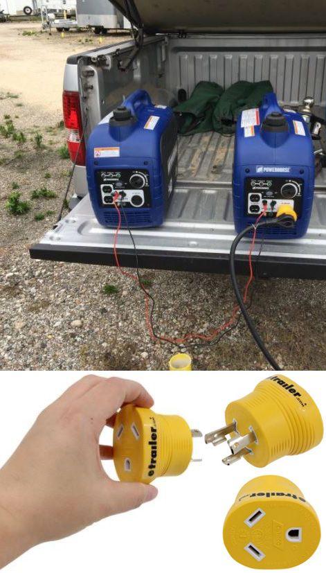 Power Grip Generator Plug Adapter for RV Power Cord 30