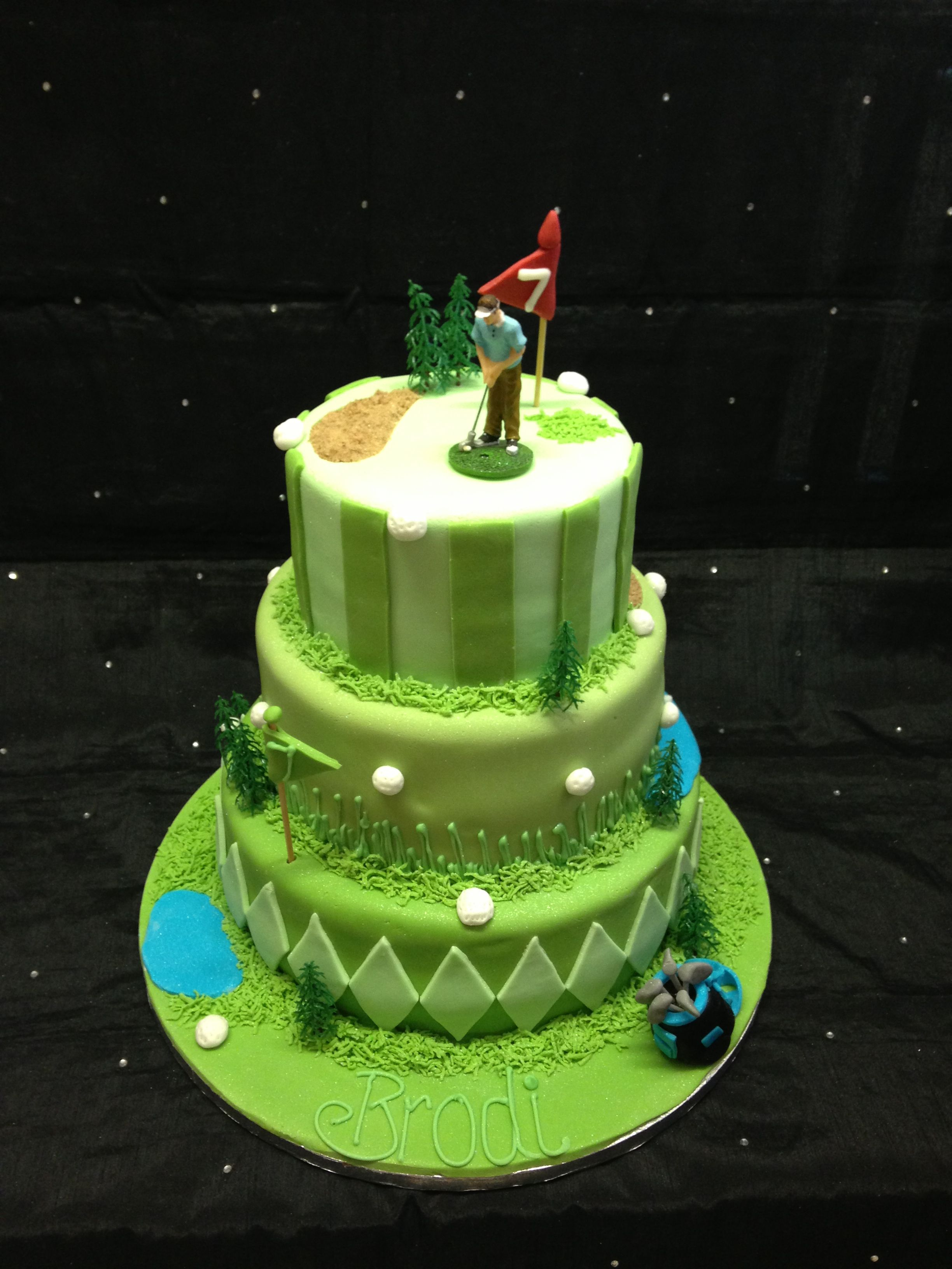 Golf Theme Tiered Cake
