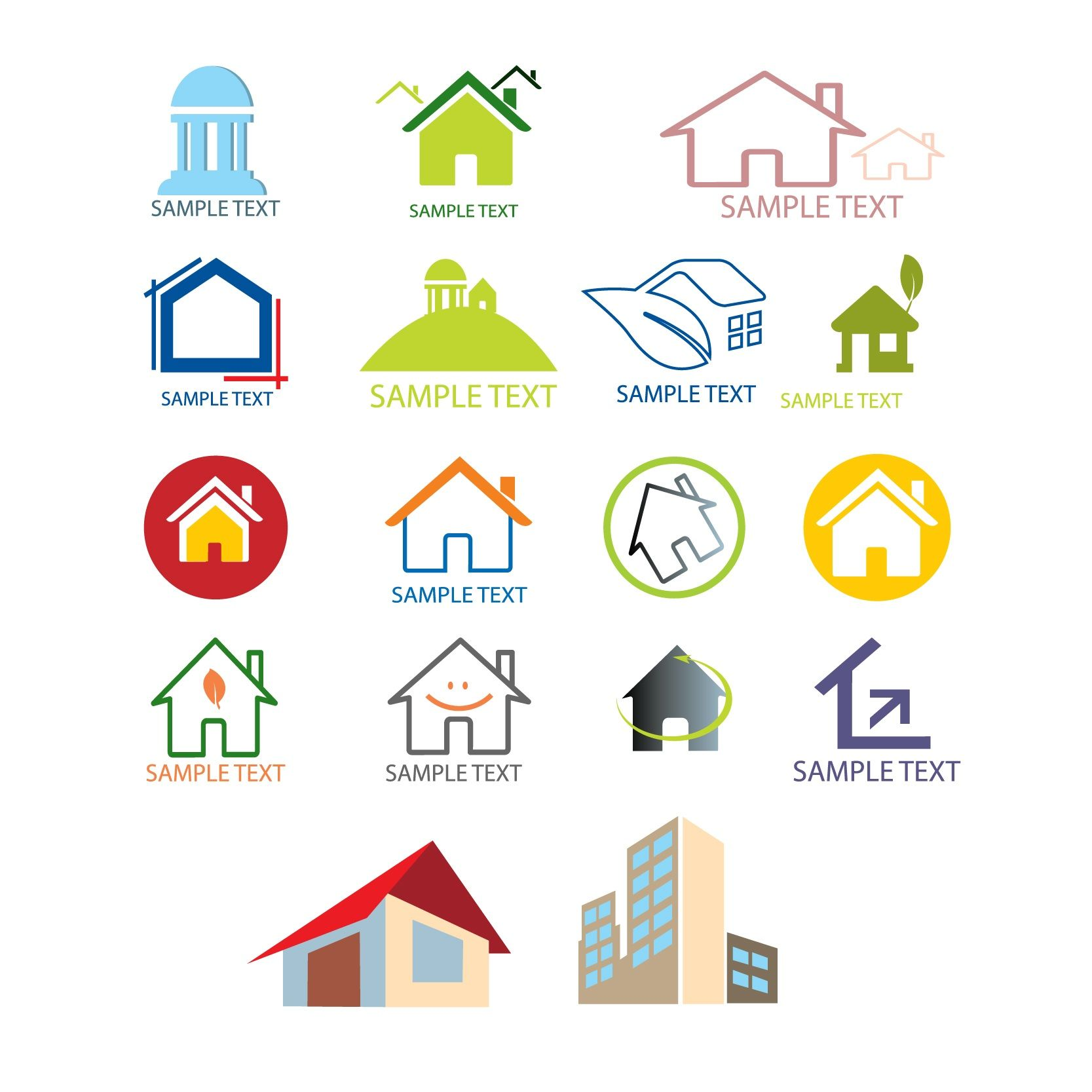 house logo design templates vector | Free Vectors | Pinterest ...