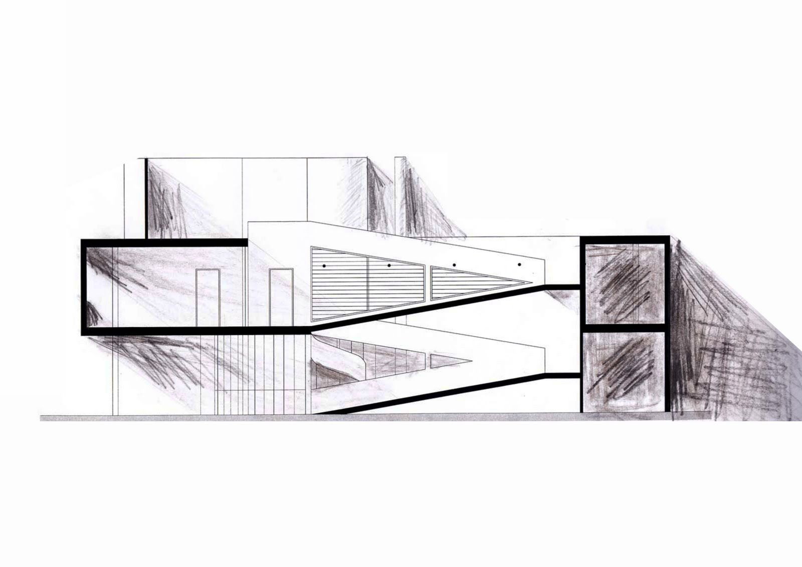 Plans For Le Corbusier S Villa Savoye One Of Lucien S