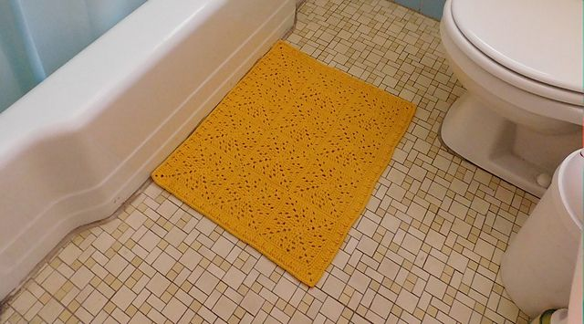 Ravelry: Granny Square Bathroom Rug pattern by Rebecca Mathes