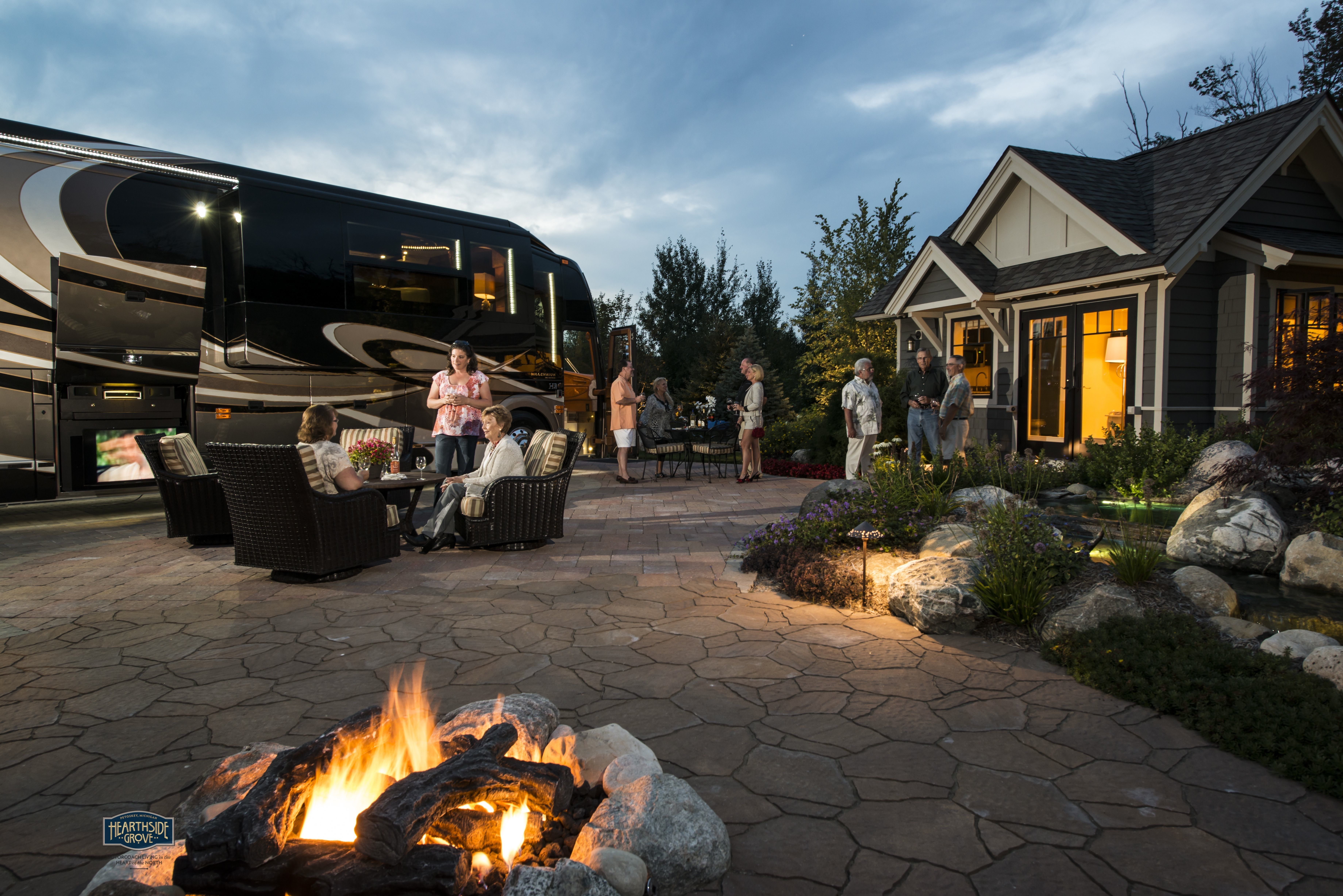 Hearthside Grove Luxury Motorcoach Resort Lot 56   #bungalow #patio