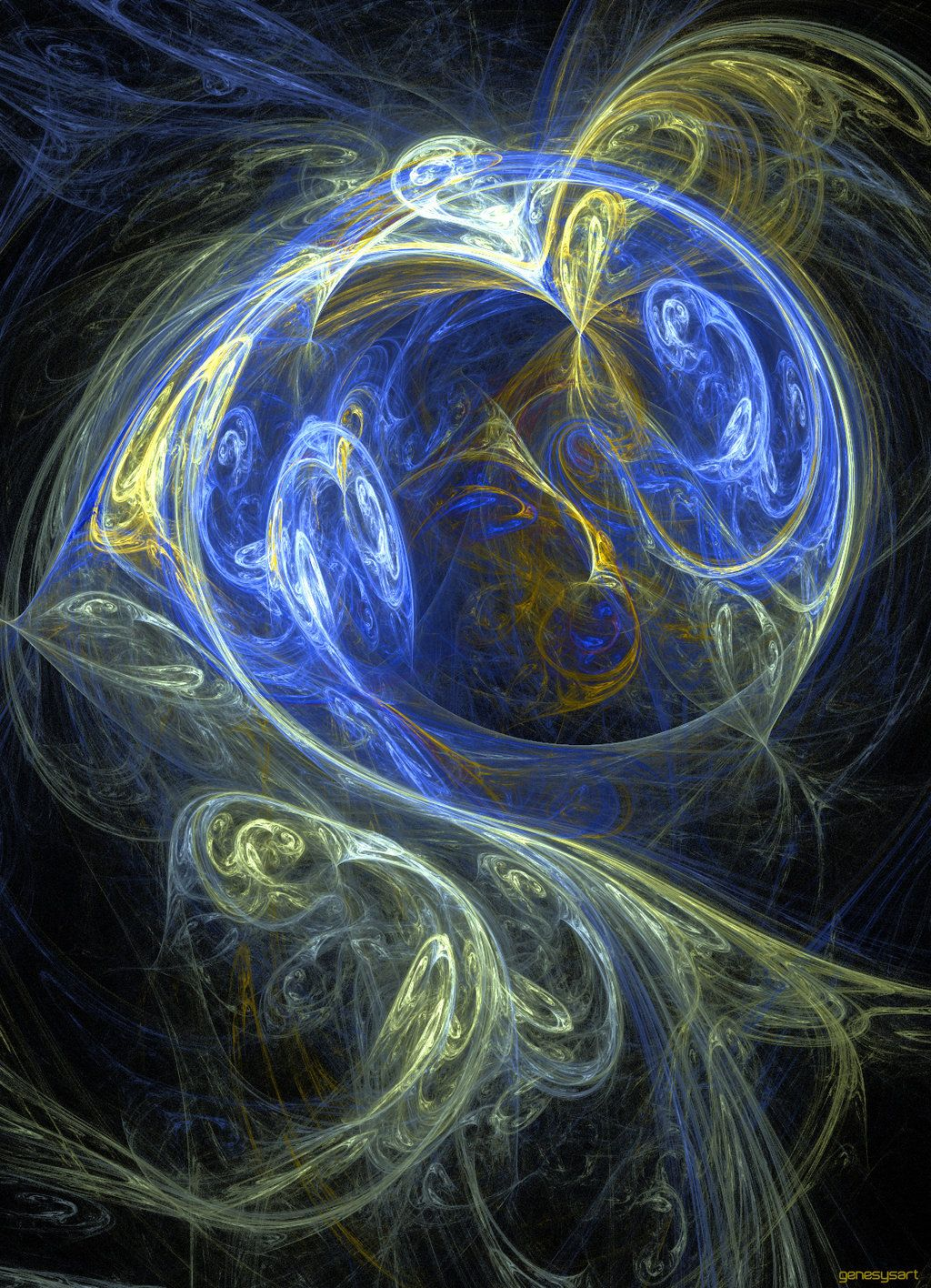 Fractal Pisces Fractal Apophysis 7x Abstract Math Art