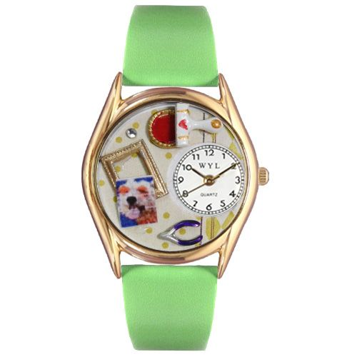 Scrapbook Red Leather And Goldtone Watch