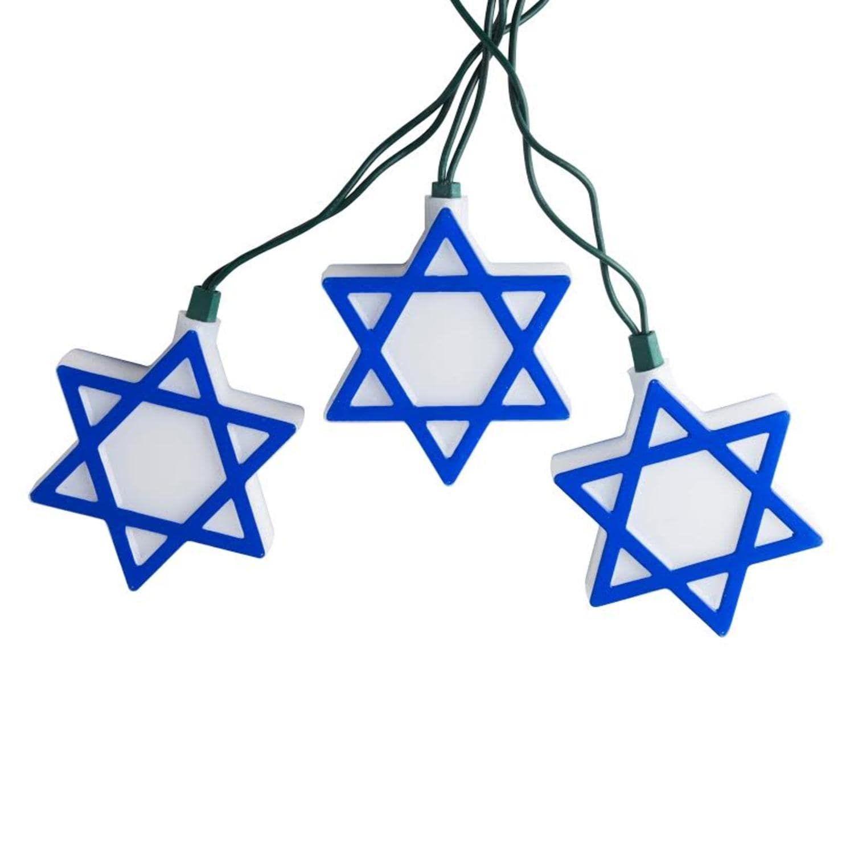 Set of 10 Blue and White Hanukkah Star of David Novelty Christmas ...
