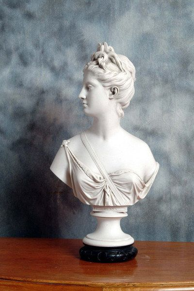 Diana A Marble Bust After Sculptor Jean Antoine Houdon Marble Bust Sculpture Art Marble Sculpture