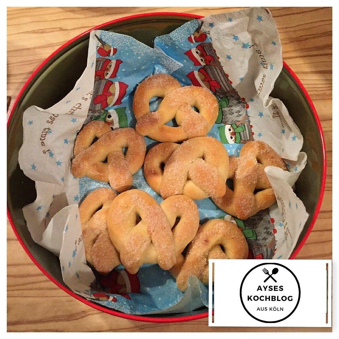 Weihnachtsbrezel-Martinsbrezel mit Zimt #martinsbrezelbacken