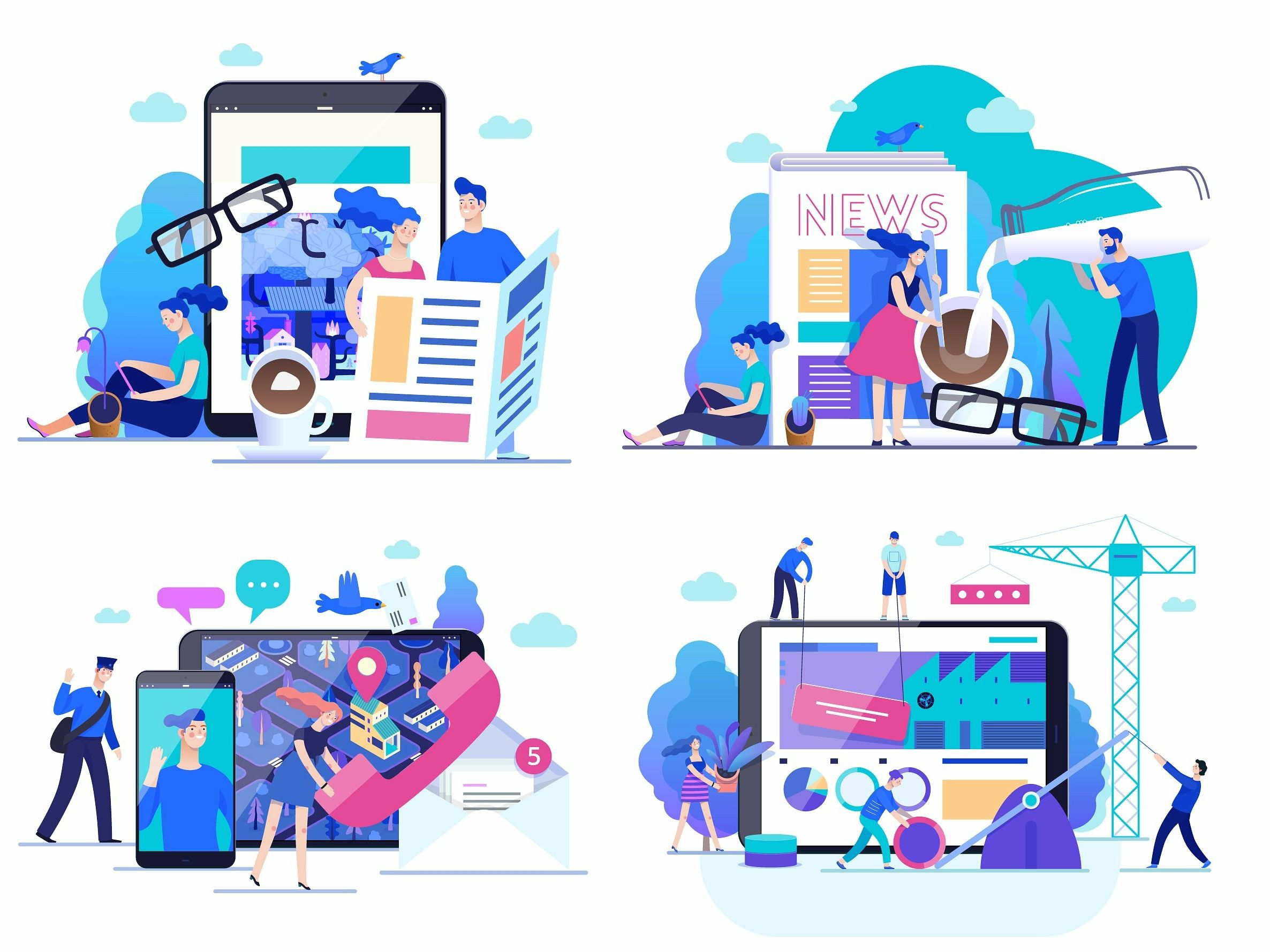 Company Website Vector Illustrations By Web Elements Website Illustration Vector Illustration Vector Illustration Design