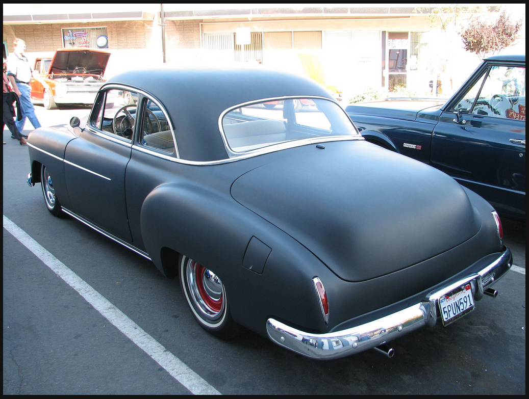 Coupe 1951 chevy sport coupe : 49' Chevy Sport Coupe in flat back rear view | Classic Cars ...