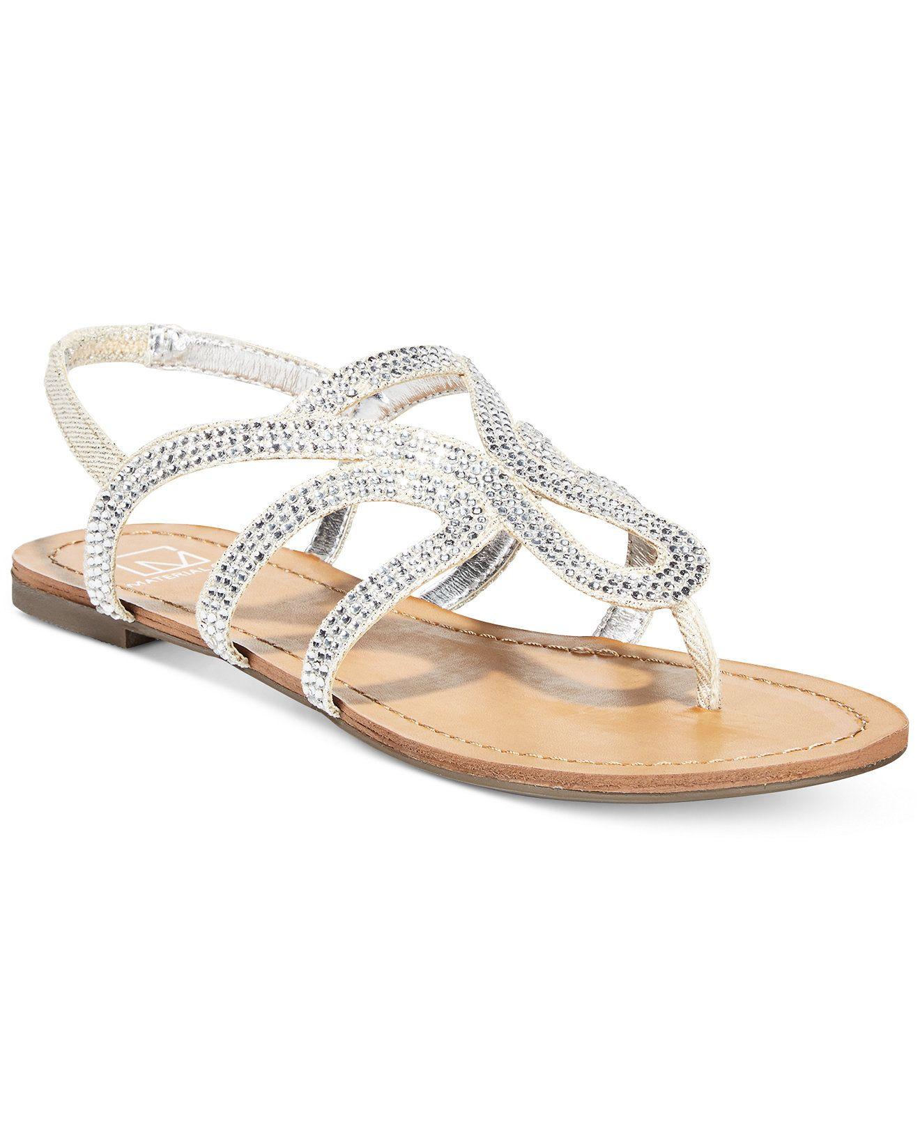 Gold 'Serena' flat sandals genuine NyWXyn