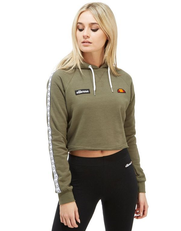 1413efd8 Ellesse Tape Crop Overhead Hoody | Clothing | Fashion, Trendy ...