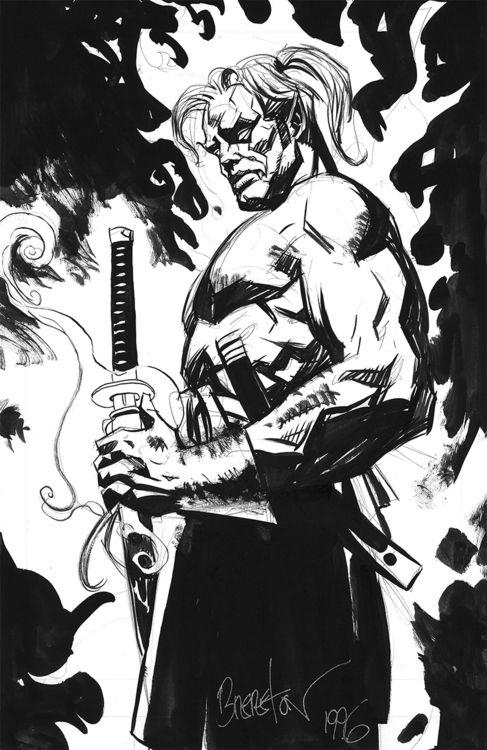 Vampire samurai by Dan Brereton