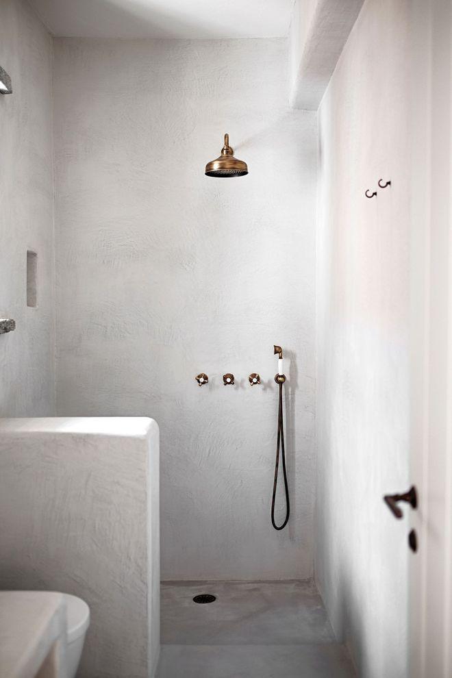 Salle de bains zen esprit spa Bath - enduit salle de bain