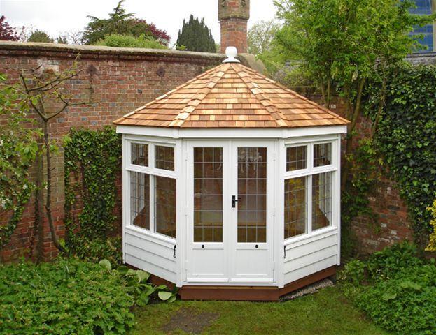 Octagonal summer house plans google search garden for Octagonal greenhouse plans