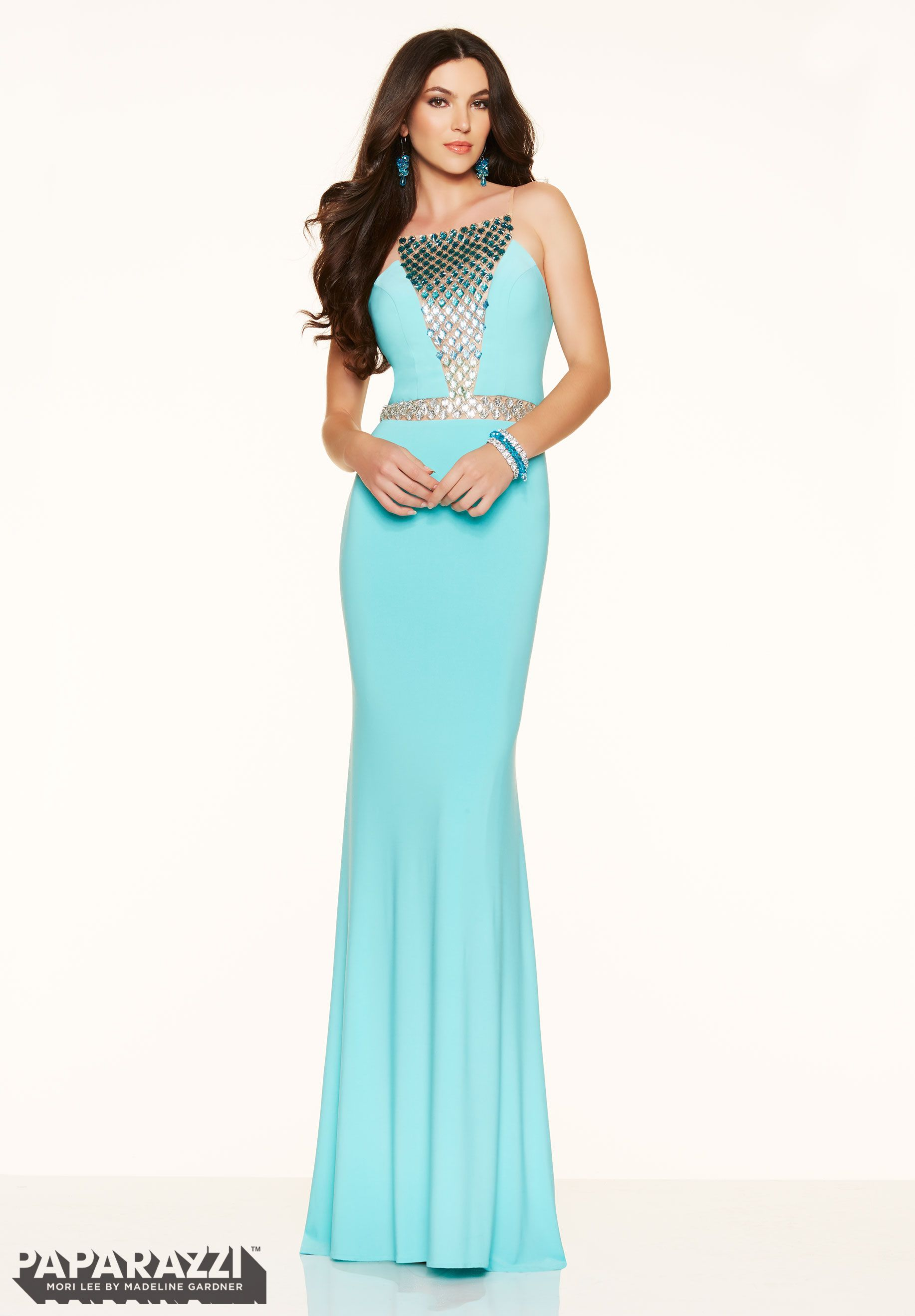 Prom Dress Jeweled Ombre Beading on Jersey | Prom Pretty Dresses ...