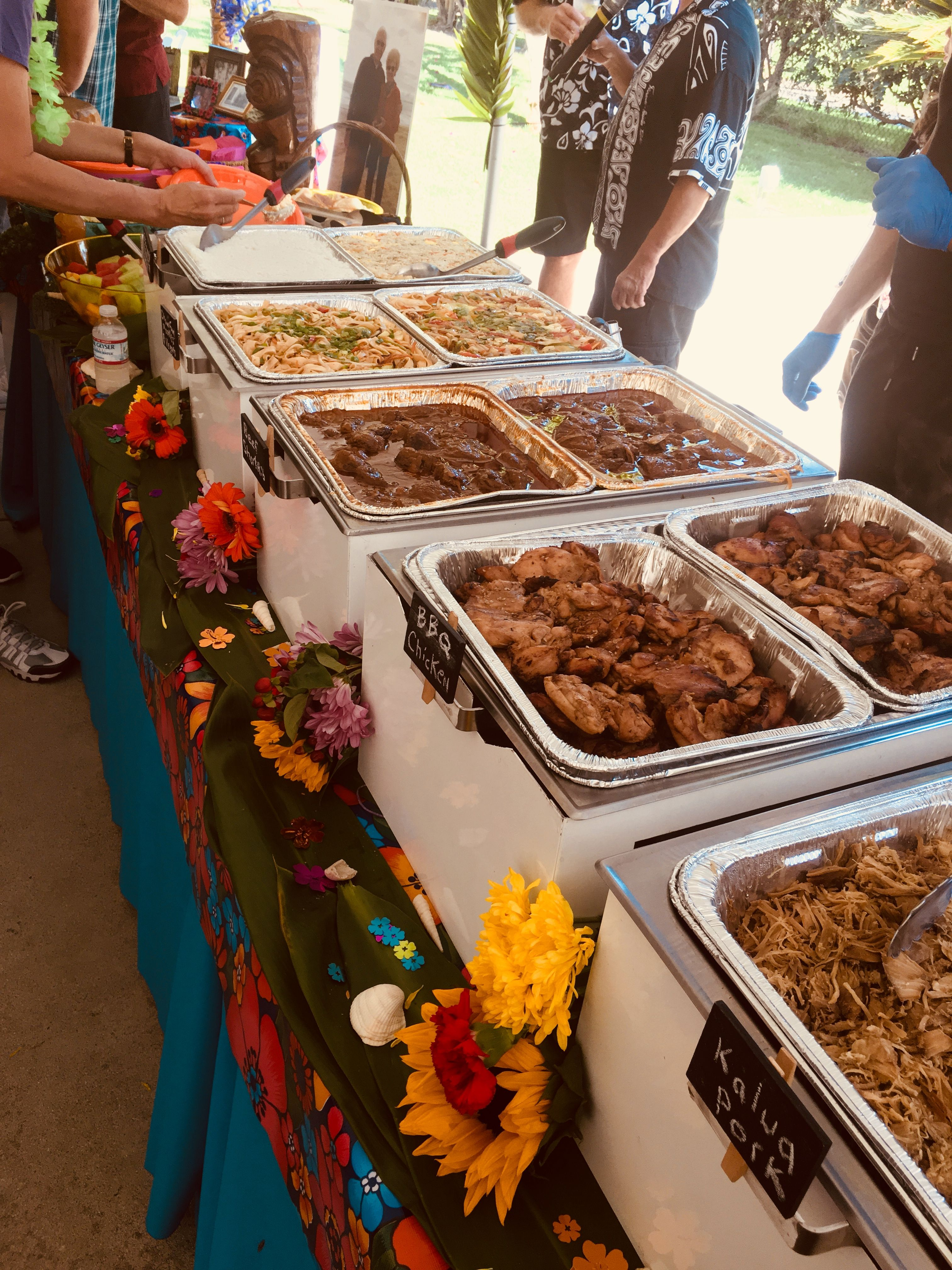 Our clients will always have plenty of food luau theme