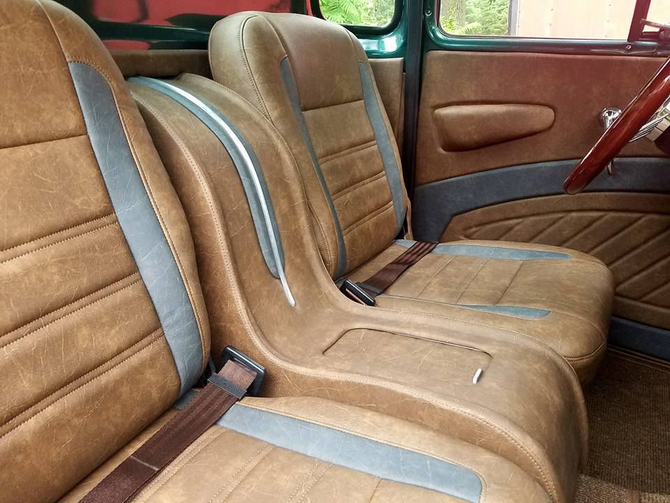 Brown Leather Interior With Custom Center Console Pic 2 Custom Consoles Custom Center Console Truck Interior