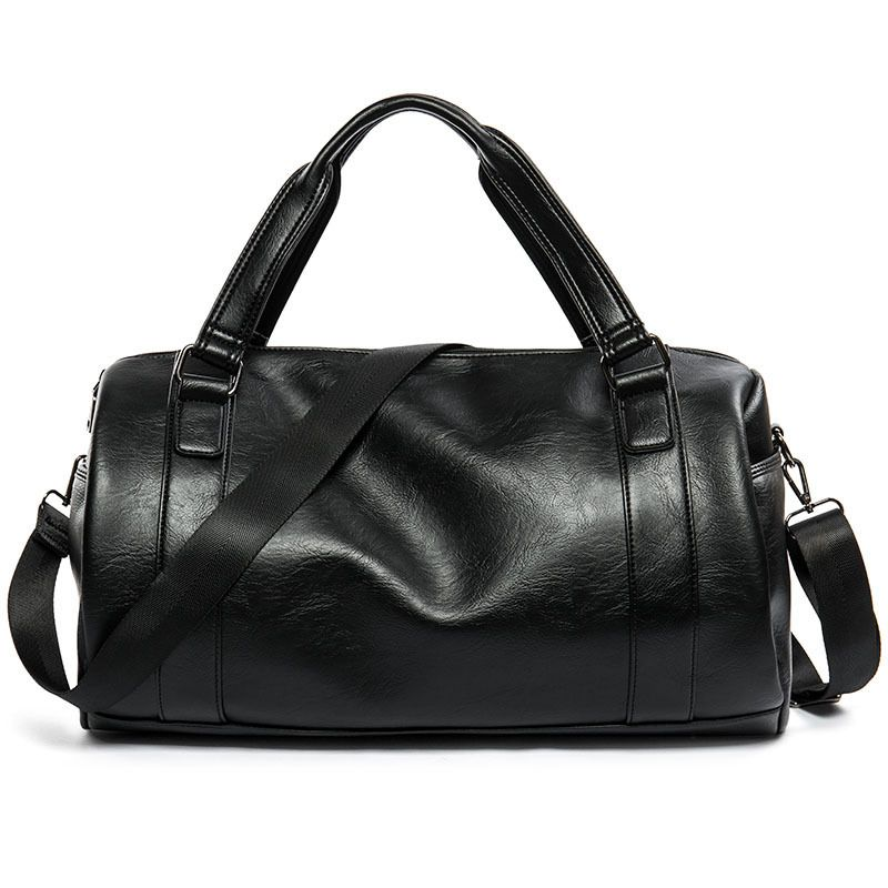 6f87ea6772 New Fashion Mens PU leather Travel Bags Waterproof Vintage High Quality Men  Shoulder Bags Travel Duffle