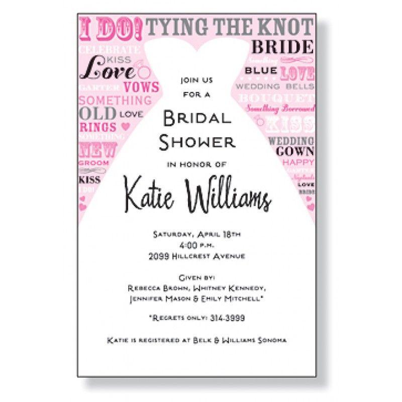 Bridal Shower Custom Invitation! Love the type!