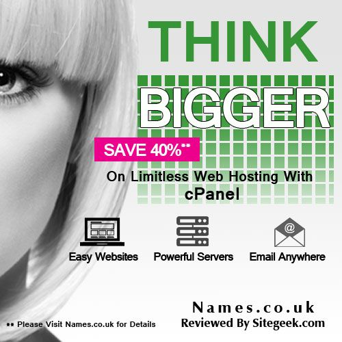 Names.co.uk offers professional online hosting solutions for developers, individuals, resellers, and businesses. All services and products are best for starters or existing online visitors. Their products are user-friendly along with quick online support. They host their services mostly on the cloud platform for flexibility and performance. Company's services include web hosting, dedicated servers, site promotion tools, website builders, email hosting plans, eCommerce solutions and more.