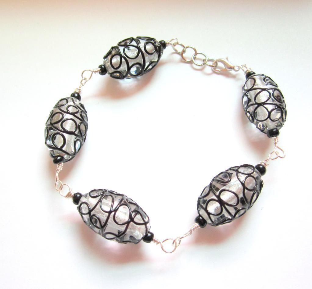 Frida Wire Wrapped Beaded Bracelet by Kimb... | Jewelry Ideas ...