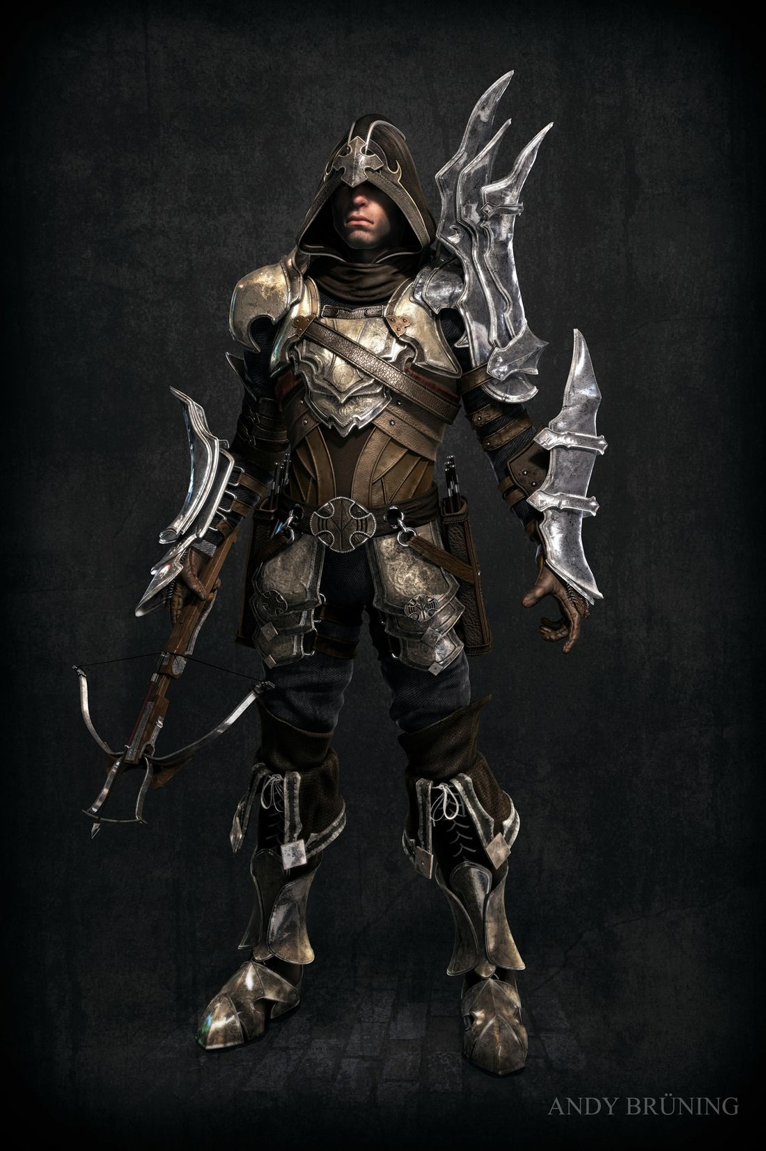 Fan Art Demon Hunter - Diablo III By Andy Brüning | Games ...  Fan Art Demon H...