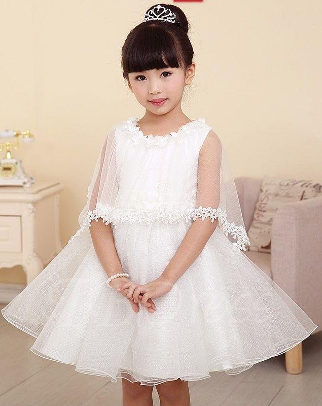 ec3f62c939c Tbdress.com offers high quality Princess Style Short mini Scoop Flower Girl  Dress with Jacket unit price of   84.09.