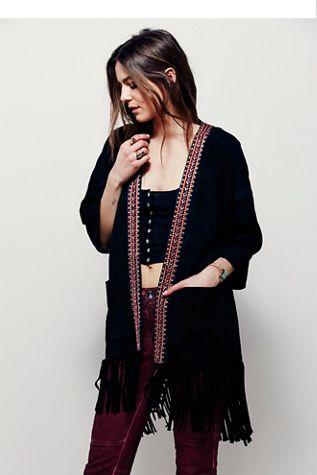 Muubaa Womens DENMAN EMB. KIMONO - Bohemian Summer Fashion Trend 2017
