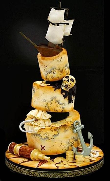 Cake Wrecks - Home - Sunday Sweets For Pirates | Pirate wedding ...