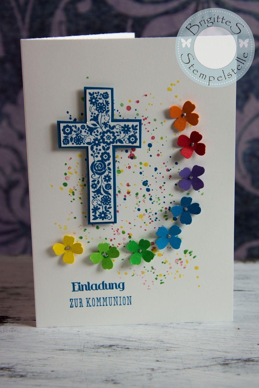 brigittes stempelstelle: einladungen zur erstkommunion | communion, Einladung