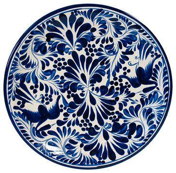 Blue u0026 White Talavera Dinner Plate eclectic dinnerware  sc 1 st  Pinterest & Blue u0026 White Talavera Dinner Plate eclectic dinnerware | Feathering ...