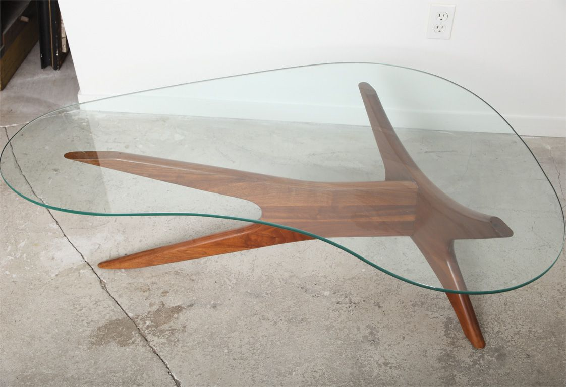 Kidney Glass Coffee Table 5