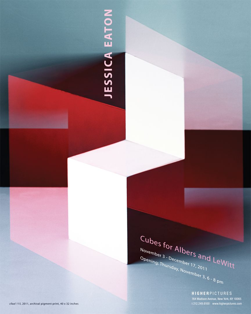 Poster - Jessica Eaton exhibition, 2011, Higher Pictures Gallery, New York