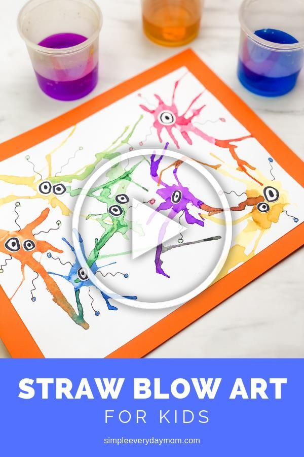 The straw blow painting is a fun and simple preschool art ...