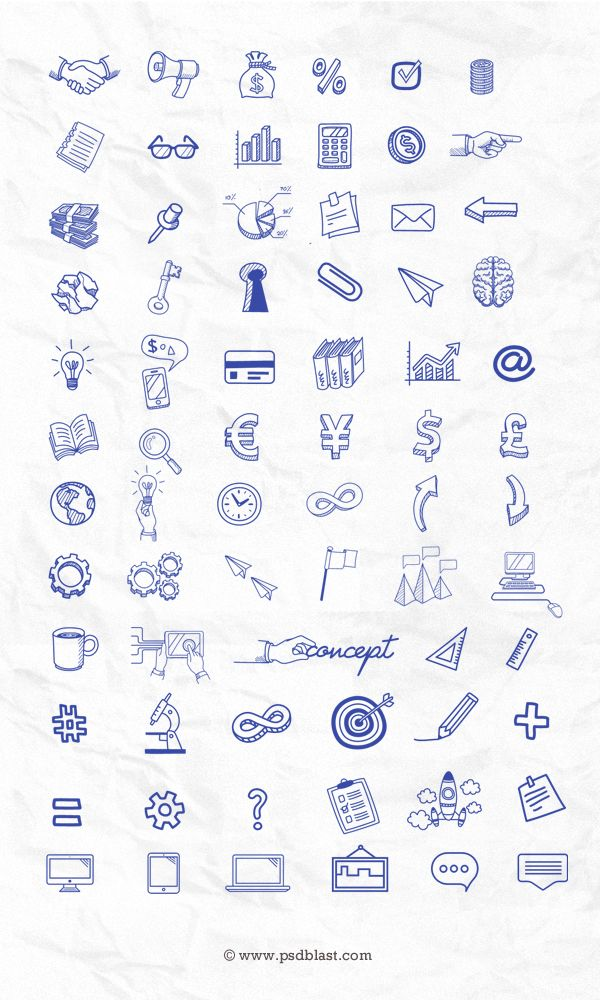 70 Hand Drawn Icon Set Psd With Images How To Draw Hands